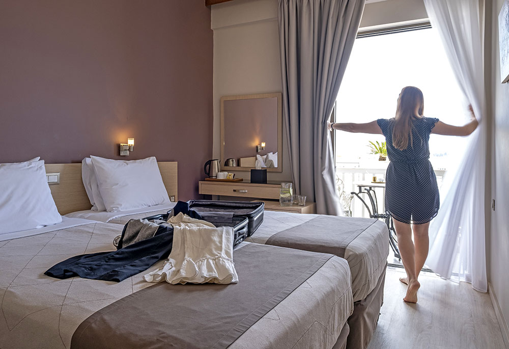 twin with Acropolis view (2 single beds)